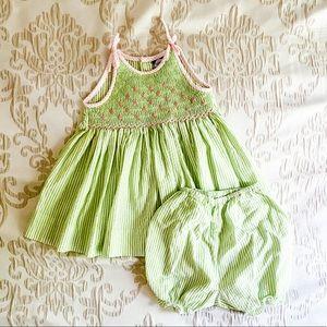 Other - Green Seersucker Dress